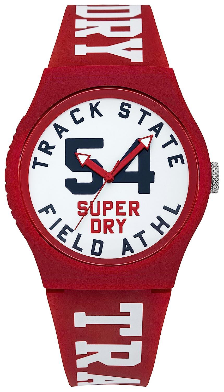 Superdry Urban Quartz Watch with Silicone Strap, White, 18 Model SYG182WR