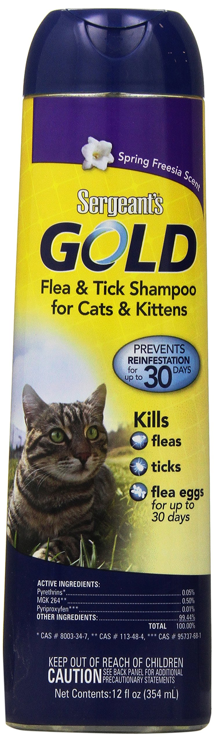 Sergeant's Gold Flea and Tick Shampoo for Cats, 12 oz