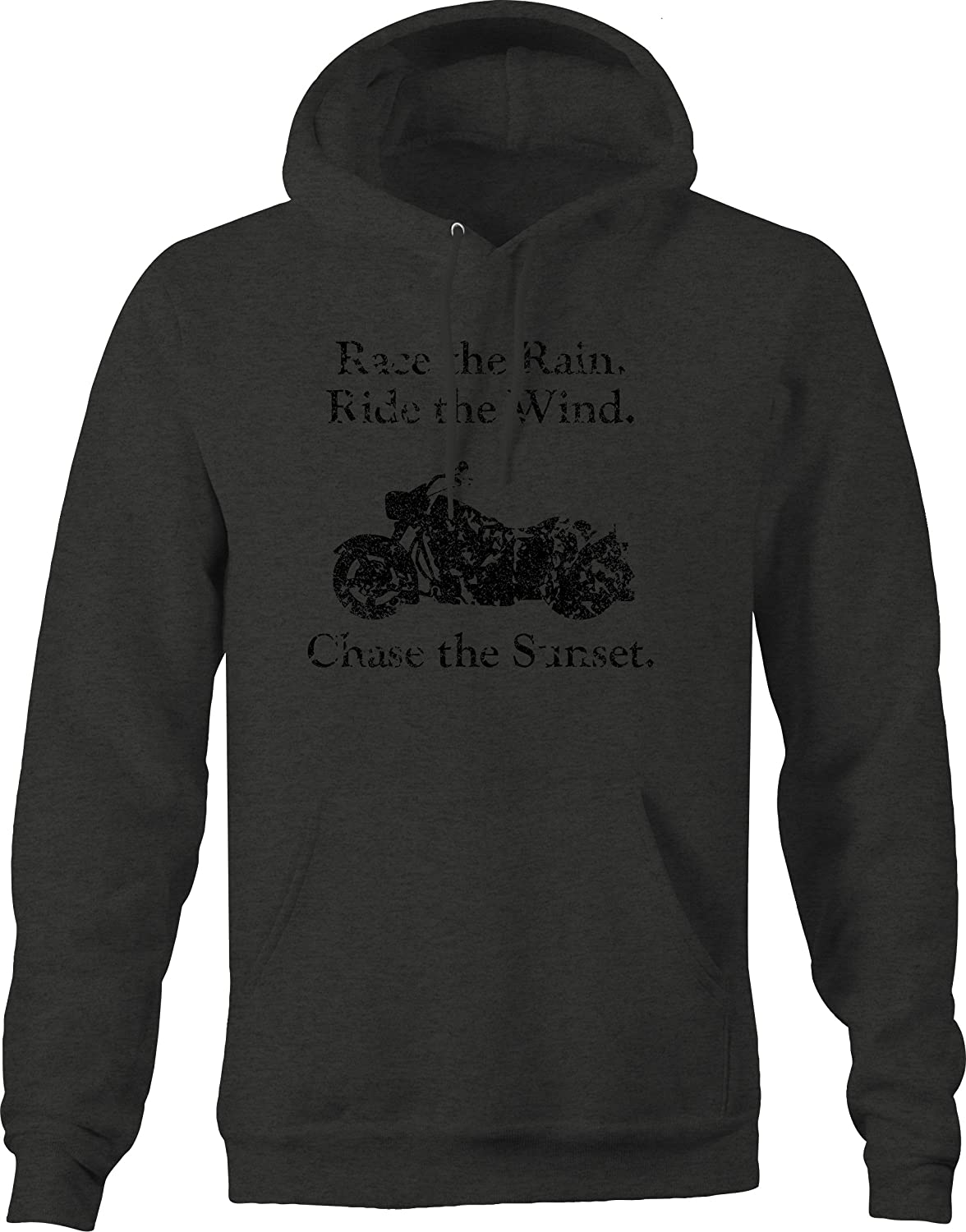 Vintage Race Rain Ride Wind Chase Sunset Cruiser Graphic Hoodie for Men