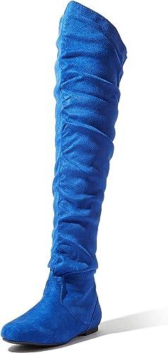 Knee Thigh High Boots, Royal Blue Sv