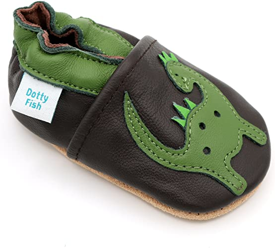 0-6 Months Flower 4-5 Years Dotty Fish Soft Leather Baby /& Toddler Shoes