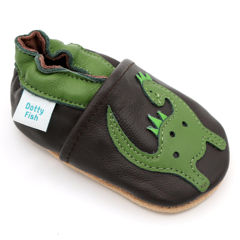 Dotty Fish - Chaussures Cuir Souple bébé et Bambin - Garçons -...