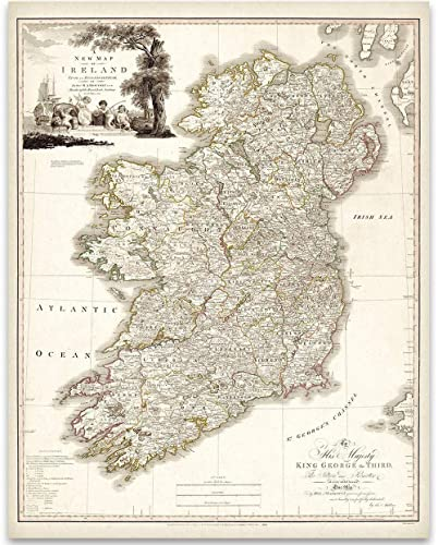 Map Of Ireland Print.Amazon Com Map Of Ireland 1792 11x14 Unframed Art Print Great