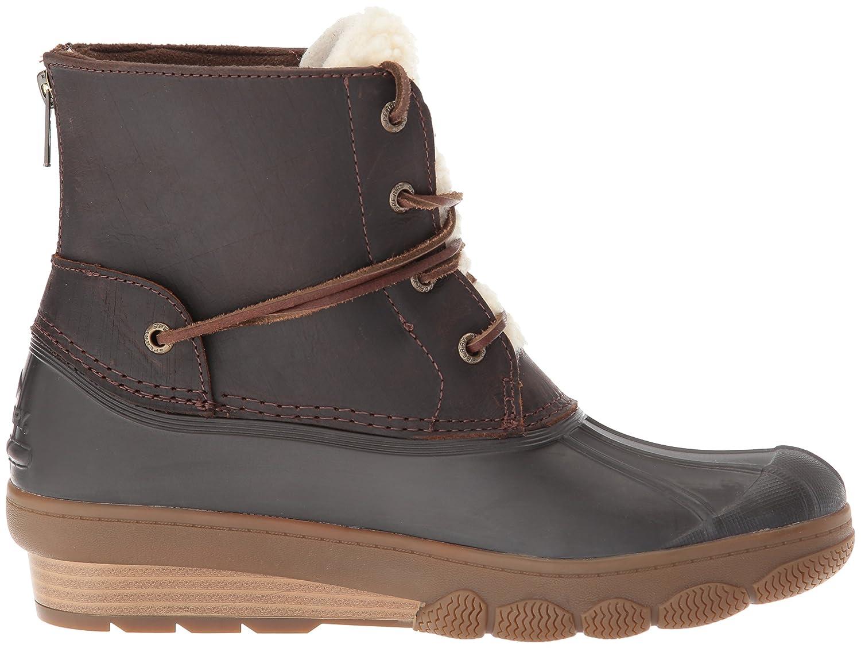 Sperry Top-Sider Women's Saltwater Wedge Tide Fur Rain Boot B01N9JPLRY 5 B(M) US|Brown