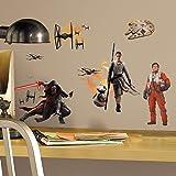 Star Wars 539138 Autocollants Réveil de la Force Multiéléments Repositionnables Multicolore 22,3 x 0,2 x 62 cm