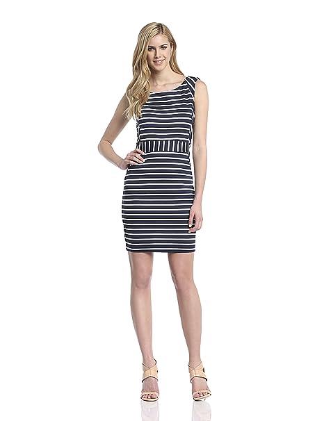 Morgan - Vestido sin mangas para mujer, color azul marino, talla ES: M