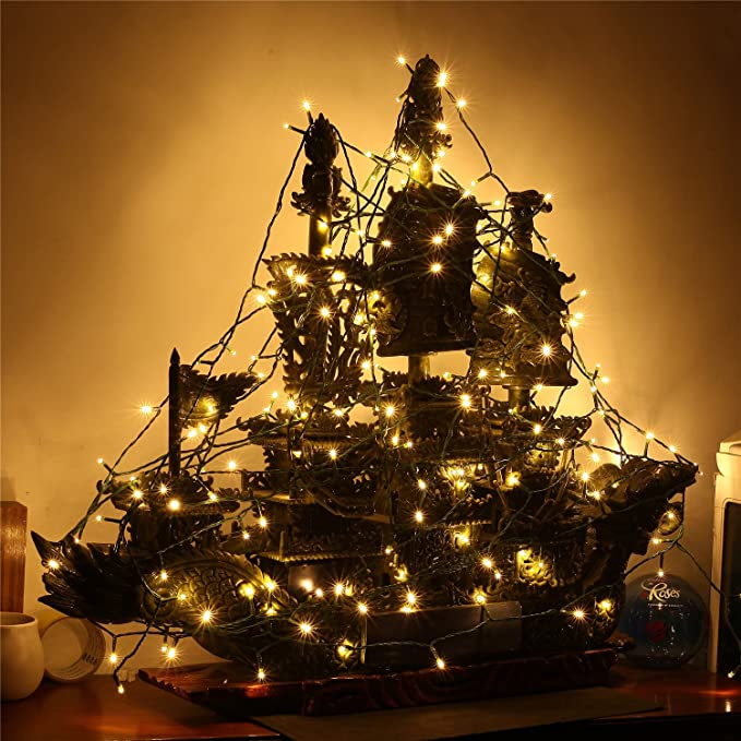 NuteDawn 12M 100 LED Cadena Luz Iluminación Navidad, Cadena Ligera ...