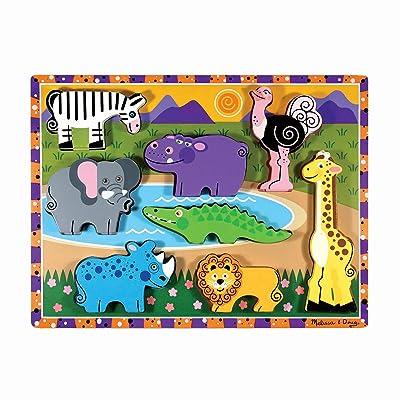 Melissa & Doug Safari Chunky Puzzle: Melissa & Doug: Toys & Games
