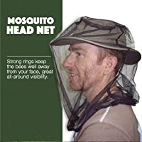 Premium Mosquito Head Net Mesh, Ultra Large, Extra Fine Holes, Insect Netting, Bug Face Shield, Soft Durable Fly Screen, Protection for Any Outdoor Lover, Carry Bag, No Chemicals Added