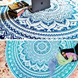 Set of 2 Ombre Mandala Tapestry or Round Beach Blanket Hippie Indian Bohemian Picnic Table Cover Spread or Boho Gypsy…