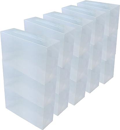 DynaSun 15x PP368T Cajas de Almacenaje para Zapatos Apilable ...