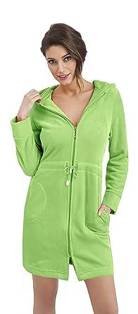 313172c327 Women s Cotton Bath Robe Housecoat Dressing Gown Dress Style Bathrobe Zip Up