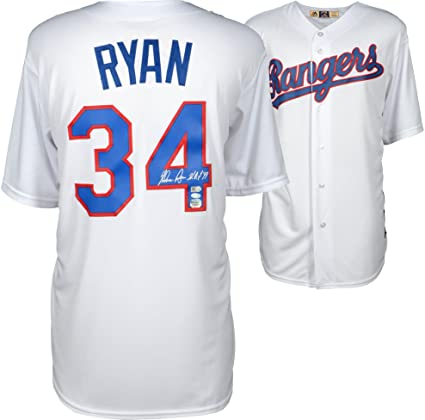 finest selection 3cce8 e0d75 Nolan Ryan Texas Rangers Autographed White Cooperstown ...