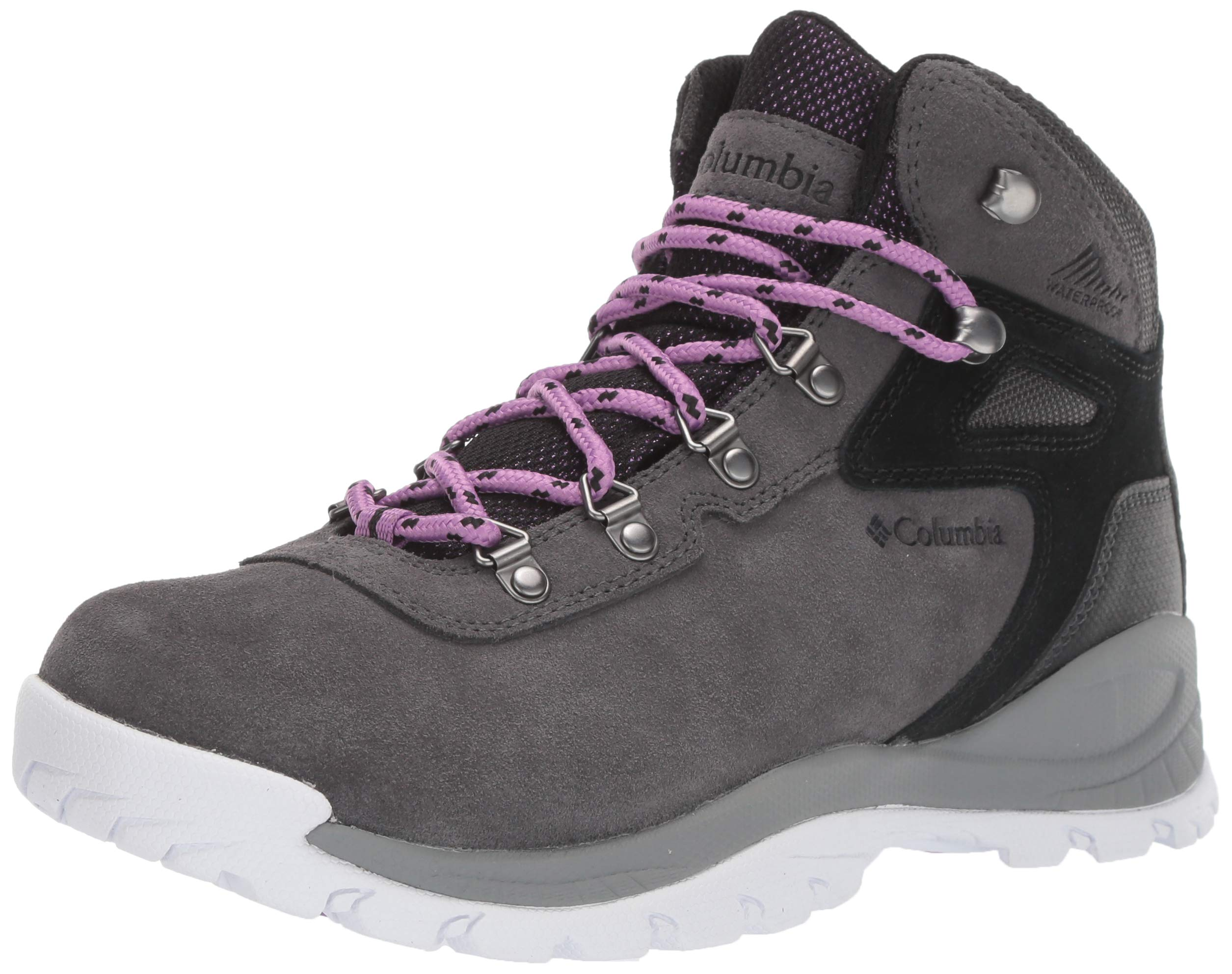 Columbia Women's Newton Ridge Plus Waterproof Amped Hiking Shoe, Dark Grey, Crown Jewel, 6.5 Regular US by Columbia