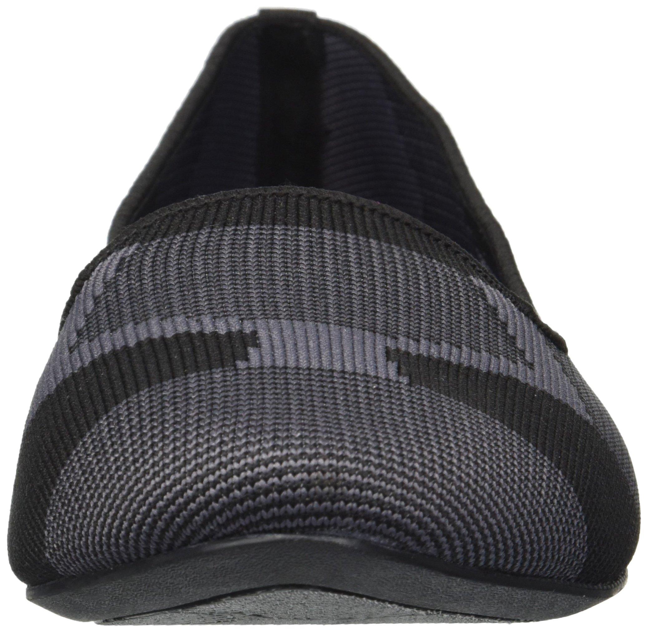 Skechers Women's Cleo-Sherlock-Engineered Knit Loafer Skimmer Ballet Flat, Black, 6.5 M US by Skechers (Image #4)