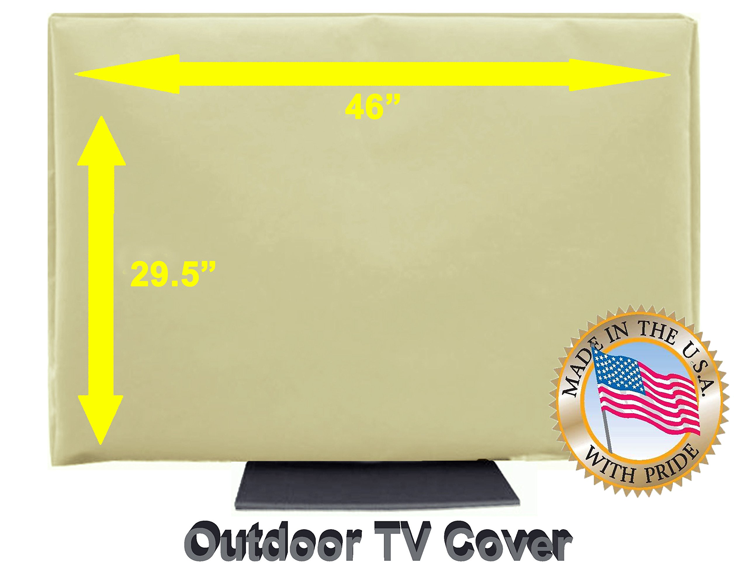 Outdoor TV Cover (46''- 52'') Light Beige by TV Cover Store
