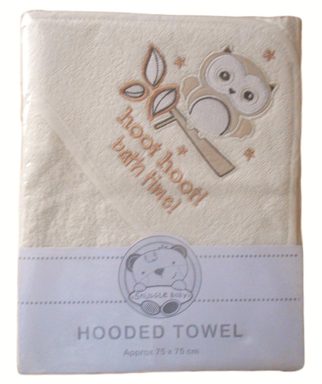 NEW BABIES KIDS BABY 100/% COTTON SOFT ELLI /& RAFF HOODED ROBE BATH TOWEL WRAP