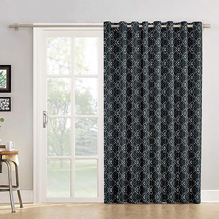 Cortinas de cocina con diseño de monograma para salón, dormitorio, puerta corredera de cristal o patio: Amazon.es: Hogar