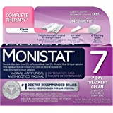 Monistat 7-Day Vaginal Antifungal | Complete Therapy Combination Pack | Pack of 4 | 7 Applicators, Original Rx Cream, Itch Relief Cream, and Soothing Wipes