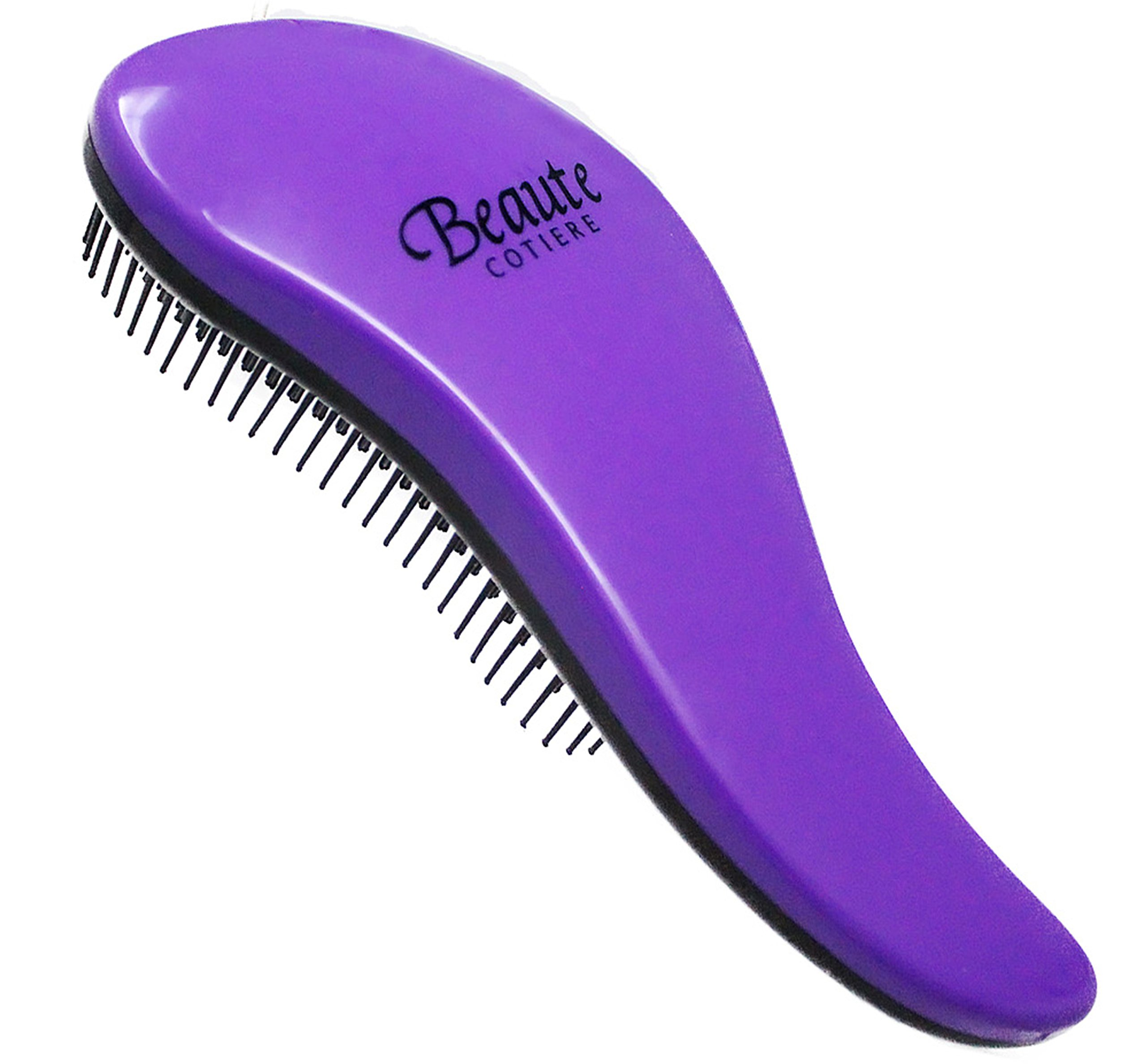 Detangler |Beaute Cotiere Detangling Hair Brush| Wet or Dry Hair - Removes Tangles - For Adults and Kids (Purple)
