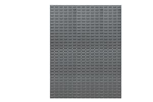 "Durham LPW-46X64-95 Louvered Panel, Wall, (2) 23"" x 64"" Panels, Gray, 2"" Height, 47"" Width, 65"" Length"