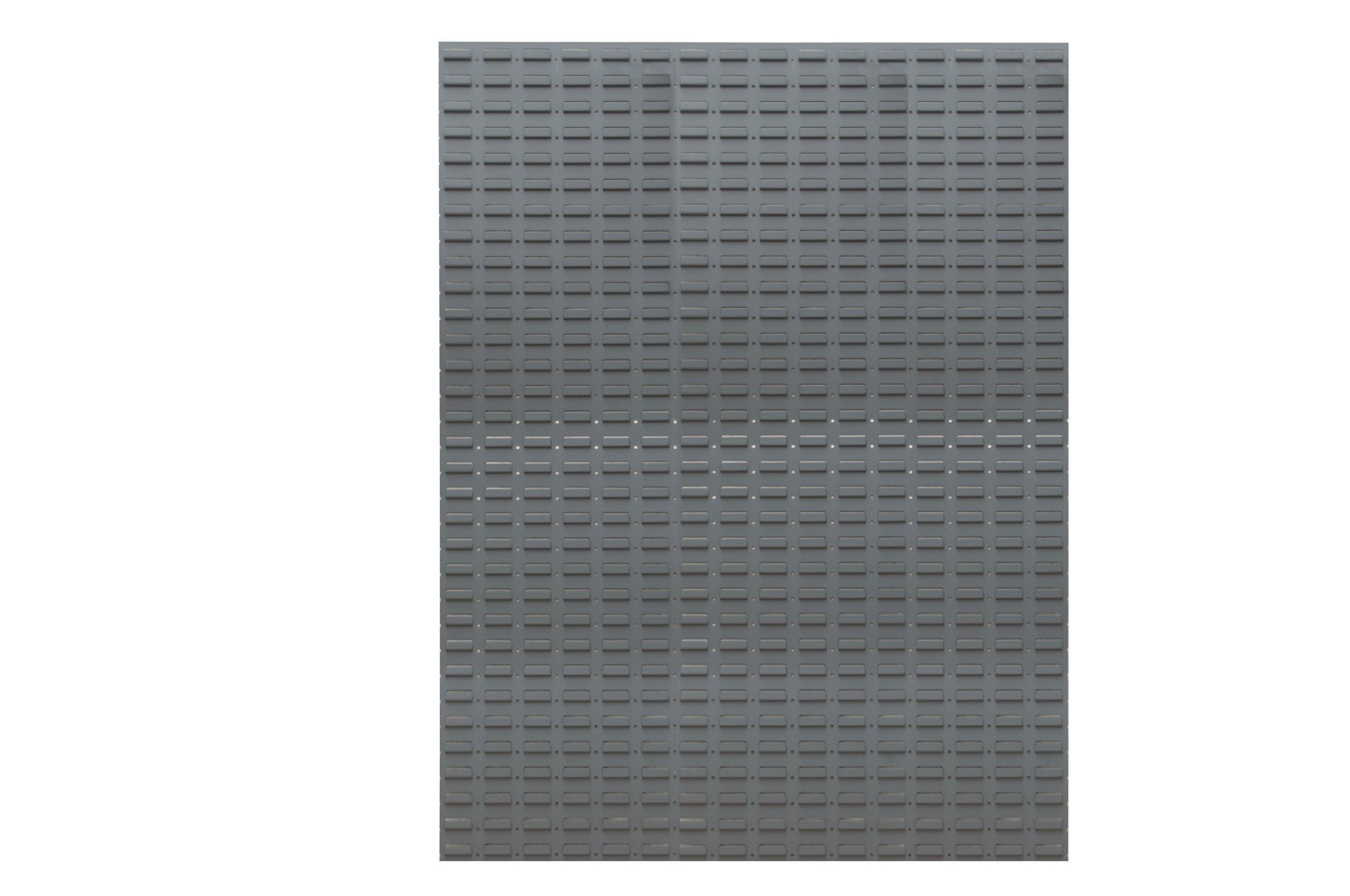 Durham LPW-46X64-95 Louvered Panel, Wall, (2) 23'' x 64'' Panels, Gray, 2'' Height, 47'' Width, 65'' Length