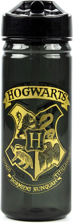 Botella Harry Potter Escuela Oro Negro 600ml Cresta de los deportes acuáticos