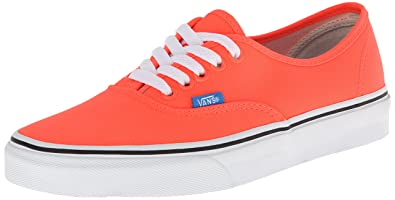 Unisex Authentic (Neon) Coral/French Blue Skate Shoe 7.5 Men US / 9 Women US