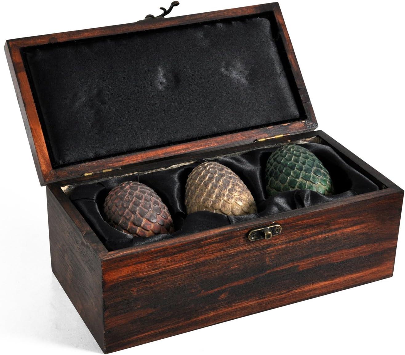 Game of Thrones - Juego de tronos - Cofre con 3 huevos de dragón de Daenerys Targaryen - Merchandising oficial de Game of Thrones Serie Tv: Amazon.es: Juguetes y juegos