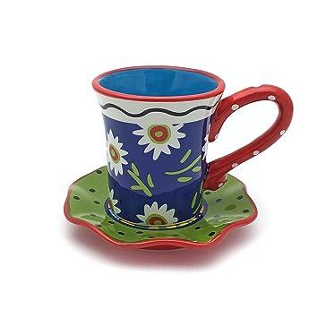el & groove Espressotasse mit Untersetzer im Blumenmuster | 2 ...