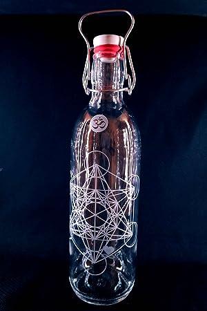 Freiglas Libre de Cristal Botella 1l 100% plastikfrei Metatron