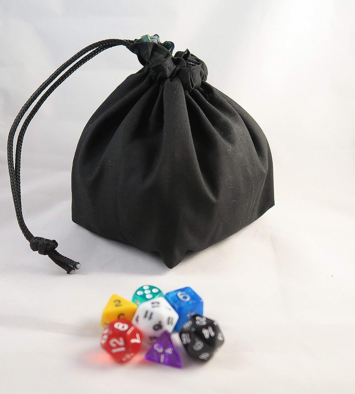Medium Dice bag Bones  black outer