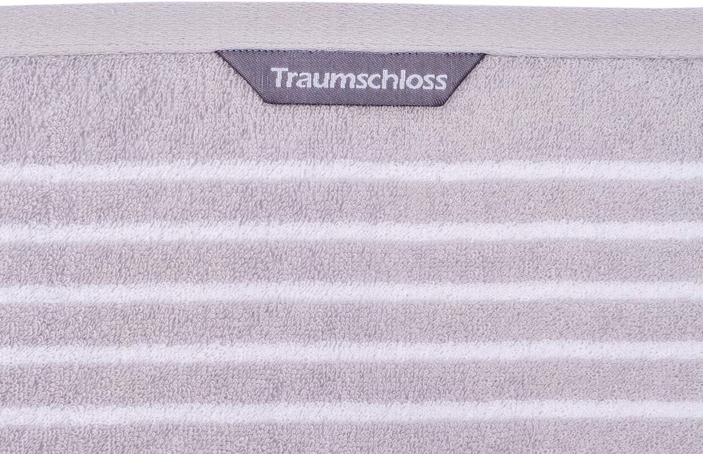 Farbe:Creme Gr/ö/ße:70x140 Traumschloss Frottier-Line Stripes hautsympathisches Duschtuch aus Baumwolle