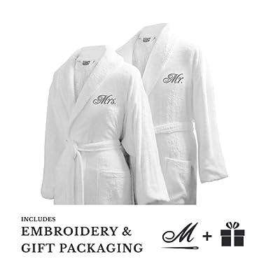 Luxor Linens Couple's Terry Cloth Bathrobe Egyptian Cotton Unisex Luxurious Soft Plush Elegant San Marco