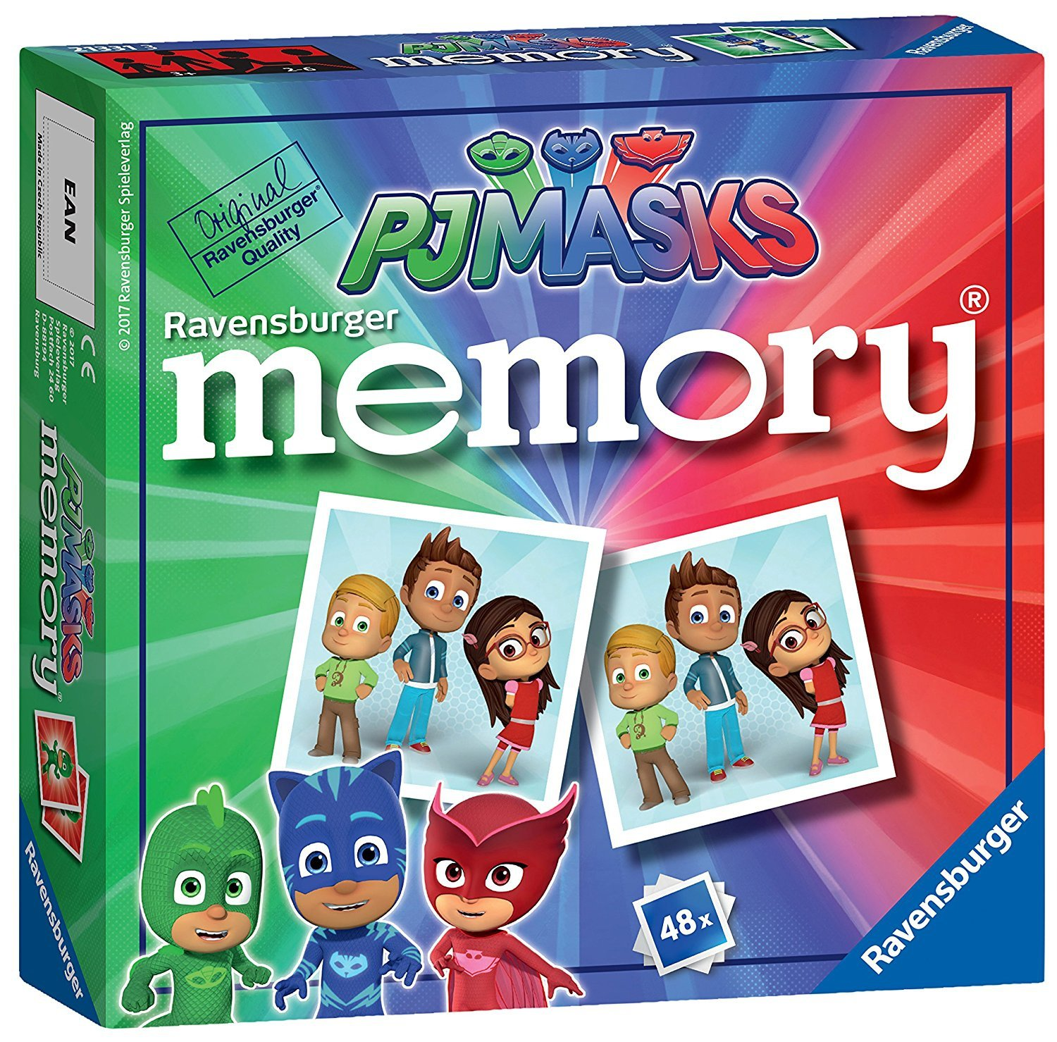PJ MASKS Memory Game Ages 3+