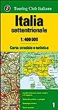 Italia settentrionale 1:400.000. Carta stradale e turistica