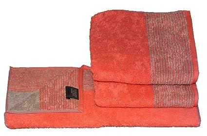 Cawö – 3 x Toalla de mano (Talla 50 x 100 cm Serie Two-