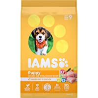 IAMS Puppy Dry Dog Food - Chicken and Whole Grains Recipe, 6.80kg (15LB)
