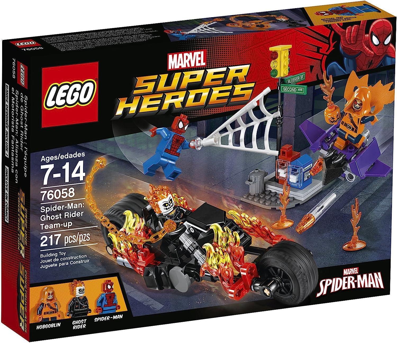 LEGO Super Heroes 76058 Spider-Man: Ghost Rider Team-up Building Kit (217 Piece) by LEGO: Amazon.es: Juguetes y juegos