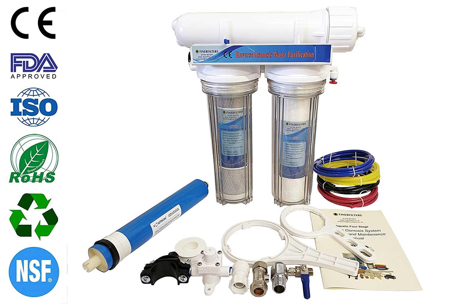 Finerfilters 3 Stage Drop-In Aquatic Reverse Osmosis Unit (100 GPD)