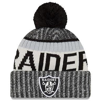 A NEW ERA Era NFL Sideline Bobble Knit Oakland Raiders Gorro b367569c760