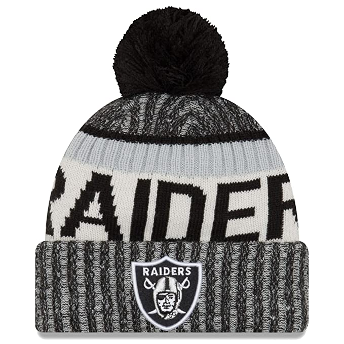 172703ea9 Amazon.com   New Era Oakland Raiders 2017 On-Field Sport Knit Beanie ...