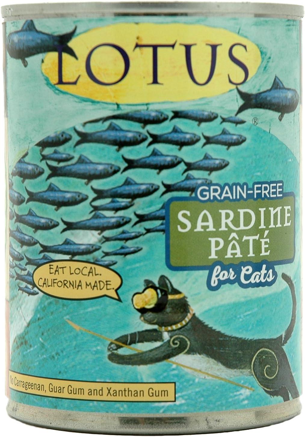 Lotus Grain Free Sardine Pate Cat Food 12.5 Ounces, case of 12
