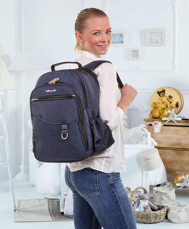Mochila//bolsa de pa/ñales para cochecito y biber/ón para la mochila para cambiar pa/ñales para beb/és con accesorio universal para silla de paseo impermeable.