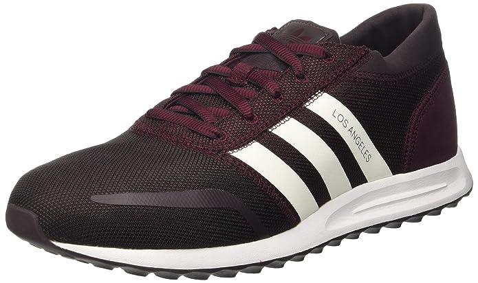 adidas Los Angeles Schuhe Herren dunkelrot (Maroon) m. weißen Streifen