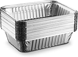 [25 Pack - 2 1/4lb] Propack Disposable Aluminum Foil Meal Prep Cookware Containers, Oven, Toaster, Grill, Cooking, Roasting, Broiling, Baking, Events, Take Out, Restaurant