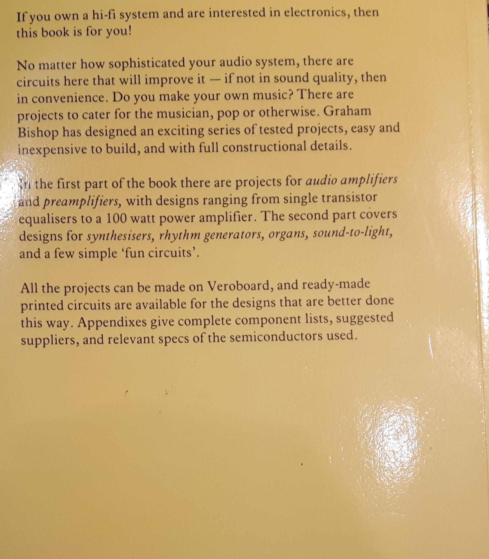 Electronic Projects Audio Circuits And No 3 Papermacs Generator Circuit Design Gd Bishop 9780333275139 Books