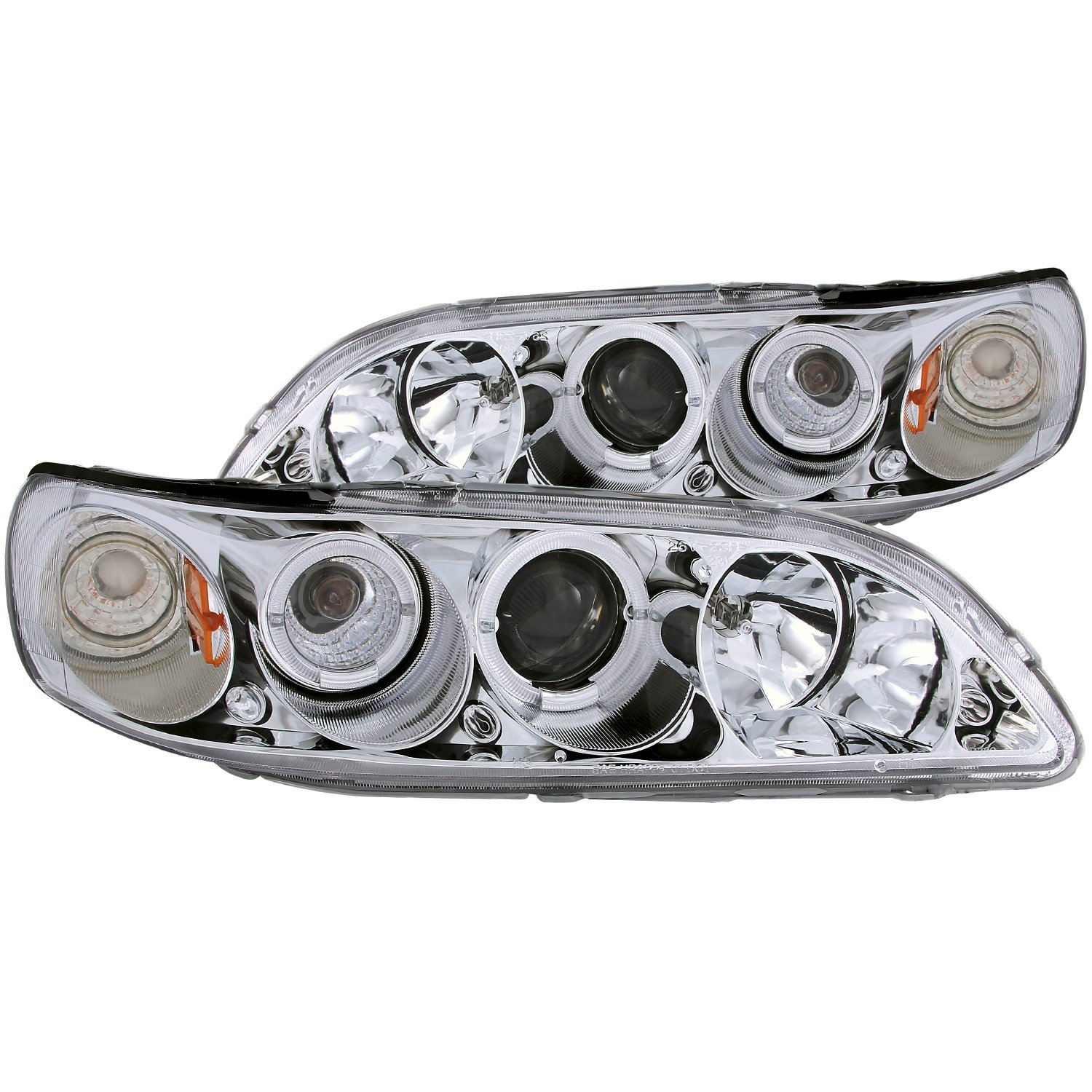 Sold in Pairs Anzo USA 121053 Honda Accord Projector with Halo Black Headlight Assembly