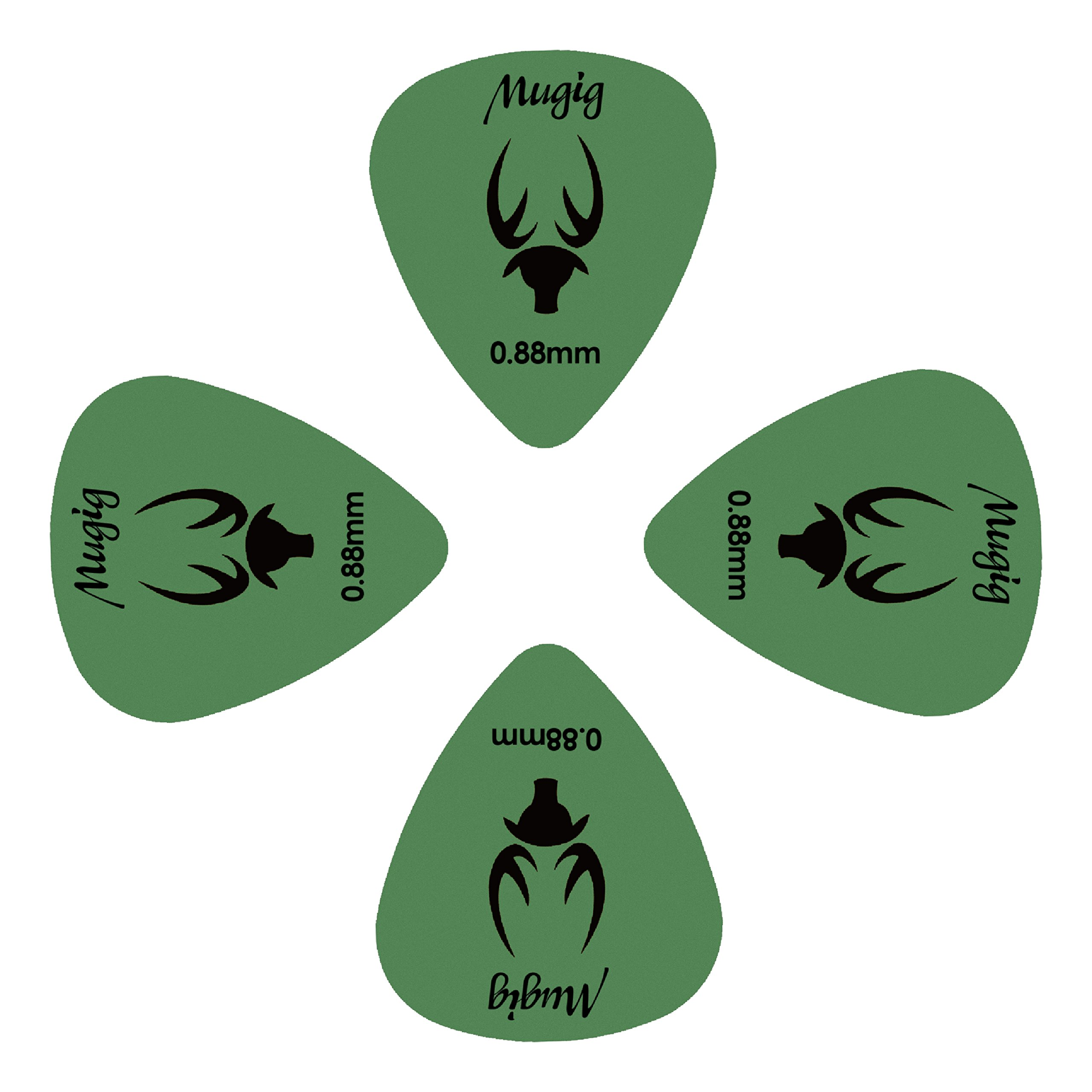 Mugig Gitarre Plektren Plektron bunte Picks 50 Stück 0.88mm für E-, Akustik- und Bass-Gitarre (0.88mm)