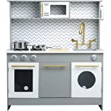 Teamson Kids Little Chef Birmingham Modern Play Kitchen, Grey/ White